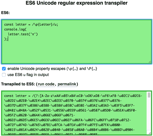 Unicode property escapes in JavaScript regular expressions · Mathias